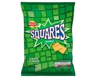 Squares Cheese & Onion 1x32