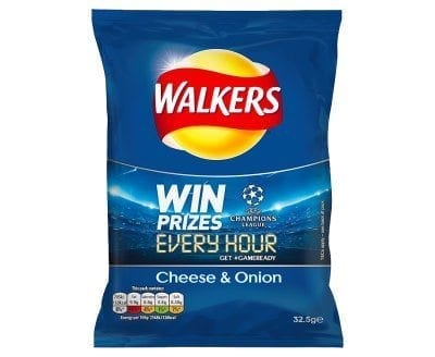 Walkers Cheese & Onion 1x32