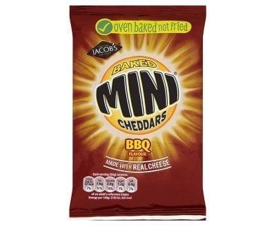 Mini Cheddars BBQ 50g 1x30