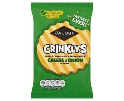 Mini Cheddars Crinklys Cheese & Onion 50g 1x30