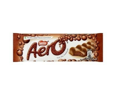 Aero Bubbly Bar Milk 24x36g