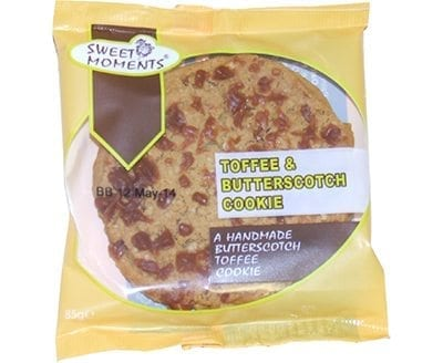Sweet Moments Butterscotch Toffee Cookie 1x12 No VAT