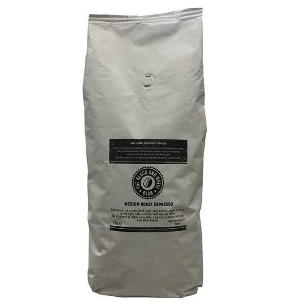 The Black & White Bean Espresso Beans 6x1kg