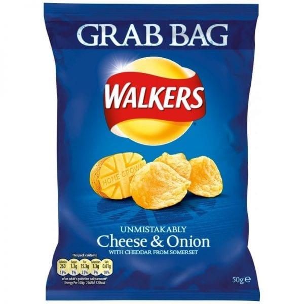 Walkers Grab Bag Cheese & Onion 1x32