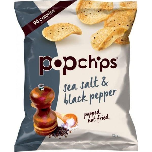 Popchips Sea Salt & Black Pepper 24x23g