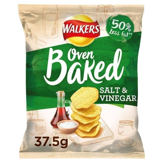 Walkers Baked Salt & Vinegar 1x32