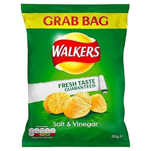 Walkers Grab Bag Salt & Vinegar 1x32
