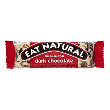 Eat Natural Dark Chocolate with Cranberries and Macadamias 12x45g