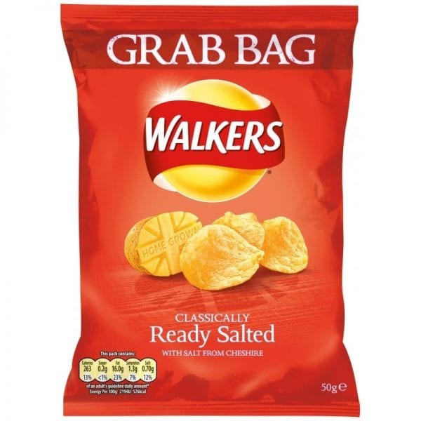 Walkers Grab Bag Ready Salted 1x32