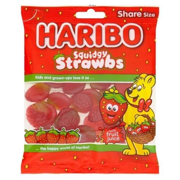 Haribo Squidgy Strawbs 160g 12pk