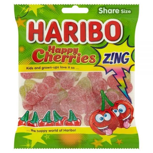 Haribo Happy Cherries Zing 160g 12pk