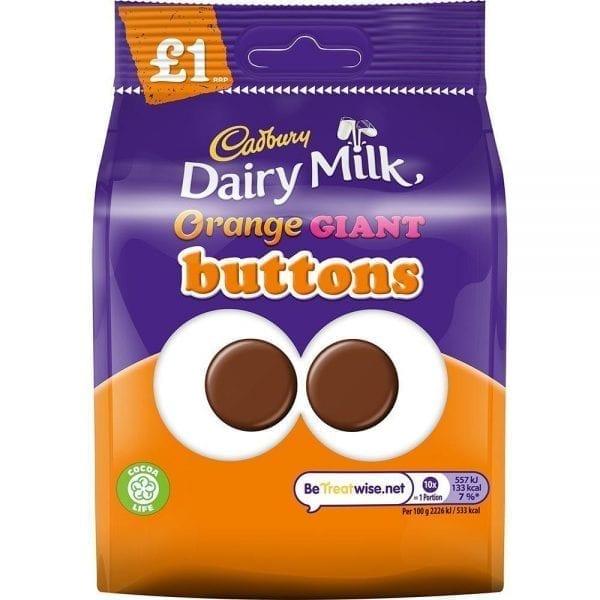 Cadburys Giant Orange Buttons 10x95g PMP £1