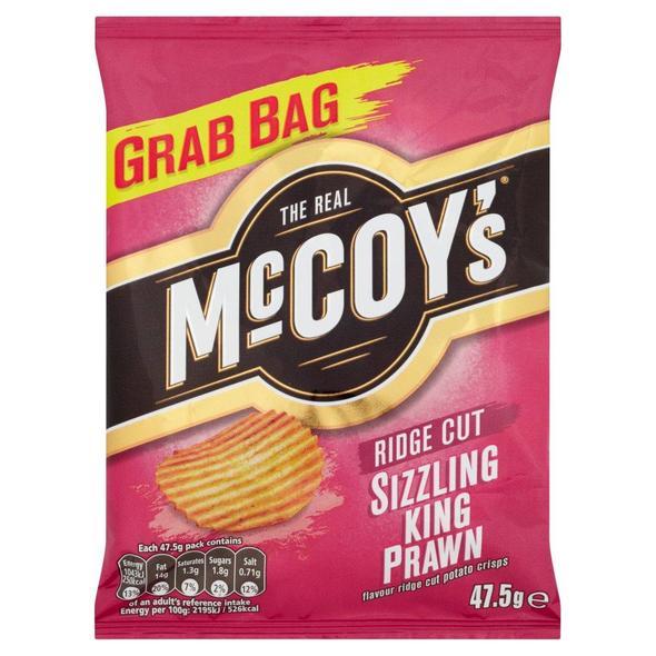 McCoys Sizzling Prawn 36x47.5g