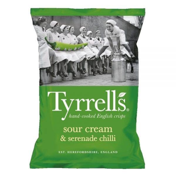 Tyrrells Dorset Sour Cream & Serenade Chilli 24x40g