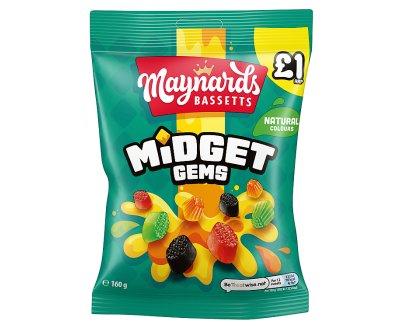Maynards Midget Gems PMP £1 12x160g