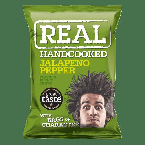 Real Crisps Jalapeno Pepper 24x35g