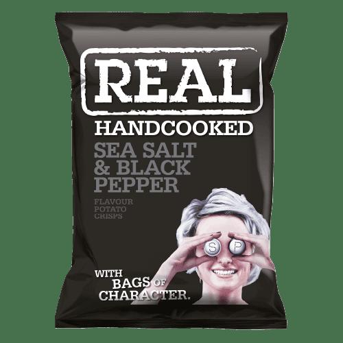 Real Crisps Sea Salt & Black Pepper 24x35g