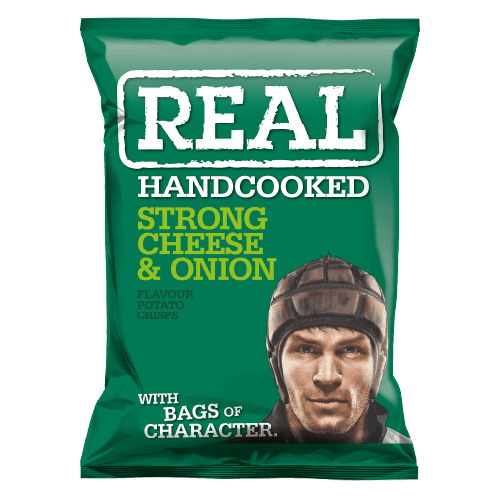 Real Crisps Strong Cheese & Onion 24x35g