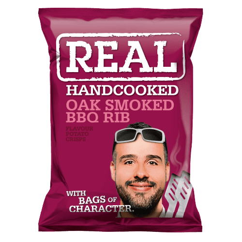 Real Crisps Oak Smoked BBQ Rib 24x35g