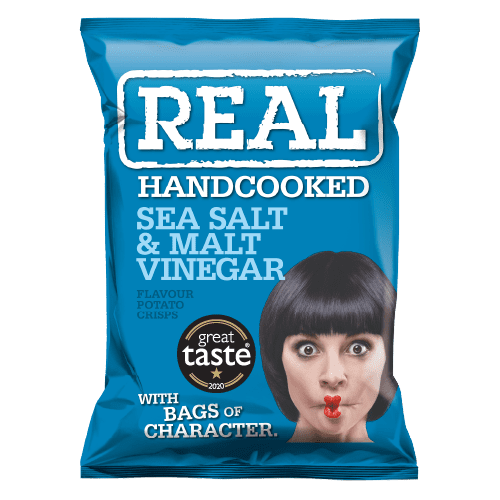 Real Crisps Sea Salt & Malt Vinegar 24x35g
