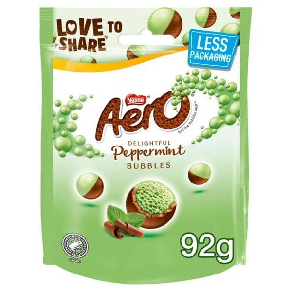 Aero Bubbles Peppermint Pouches 8x92g