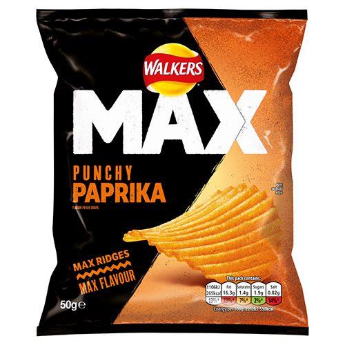Walkers Max Paprika 24x50g